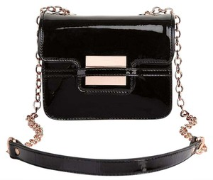 Zac Posen Zspoke Rosegold Patent Leather Clutch Cross Body Bag