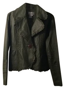 Spiegel green Leather Jacket