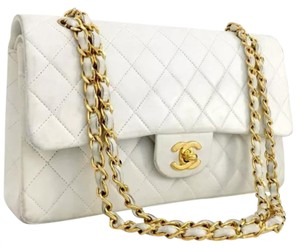 Chanel Flap Quilted Chain Cc Logo Gold Chain Shoulder Bag