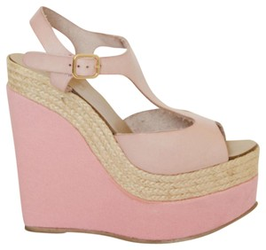 Topshop Platform Sandals Pink Wedges