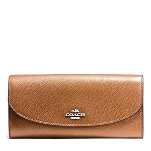 Coach COACH CROSSGRAIN LEATHER SLIM ENVELOPE WALLET SADDLE TAN 54009
