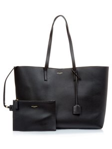 Saint Laurent Shopping Ysl Ysl Tote in Black