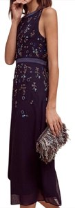 Anthropologie Sequins Beads Formal Empire Waist Night Out Dress