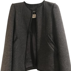 Chanel darker grey Leather Jacket