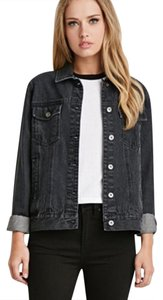 Forever 21 charcoal Womens Jean Jacket