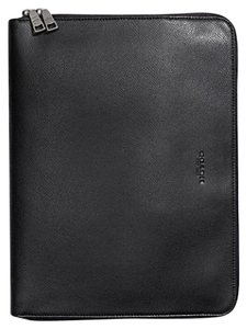 Coach COACH Tech Portfolio in Crossgrain Leather Black F59119