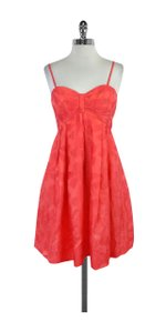 Jill Stuart short dress Pink Bow Print Strapless on Tradesy
