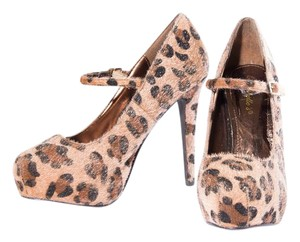 Breckelle's Cheetah Orange | Brown - F170 Pumps