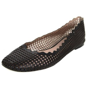 Chloé Ballet Perforated Laser Leather Black Flats
