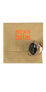 Alexis Bittar Oval Grey Gemstone Statement Ring