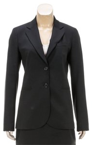 Theory Theory Black Button Front Jacket and Skirt Suit (Size 6) 207641