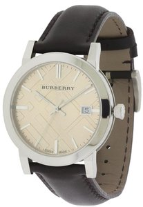 Burberry Burberry Smooth Brown Leather Mens Watch BU9011