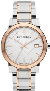 Burberry Burberry Large Check Stamped Two-Tone Ladies Watch BU9006