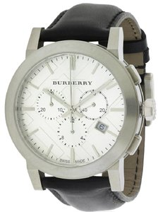 Burberry Burberry Leather Chronograph Mens Watch BU9355