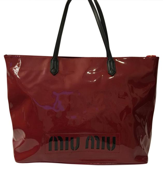 Item - Red Patent Leather Weekend/Travel Bag