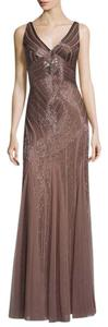 Aidan Mattox Gown V-neck Beaded Dress