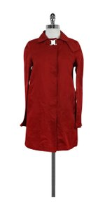 Dolce&Gabbana Red Overcoat Coat