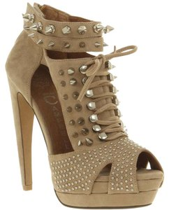 Jeffrey Campbell Studded Studded Silver Hardware Nude Sandals