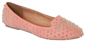 Jeffrey Campbell Loafer Studded Coral Flats
