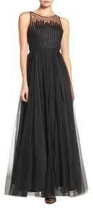 Aidan Mattox Gown Sheer Mesh Sleeveless Dress