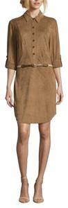 ECI New York short dress Tan on Tradesy