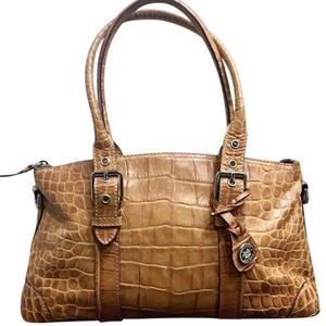 Dooney & Bourke Satchel in tans browns yellows