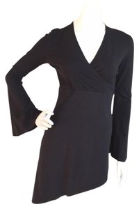 Anne Fontaine Bell Sleeve Asymmetric Top Black