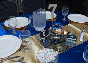 Royal Blue Tablecloth 90