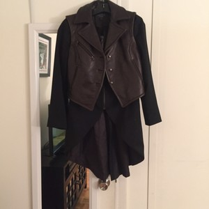 Rag & Bone Black jacket & dark brown leather vest Leather Jacket