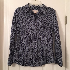 Michael Kors Button Down Shirt black, blue, white