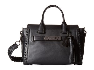 Coach Swagger Carryall Rip & Repair Satchel in Black