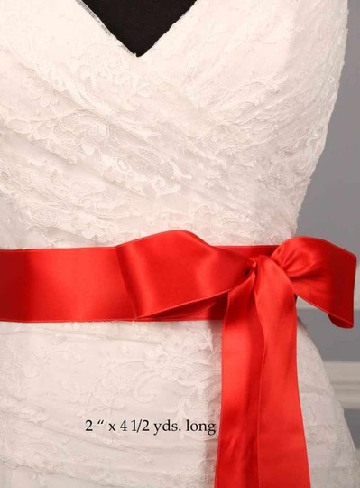 Rouge Red Ribbon Sash