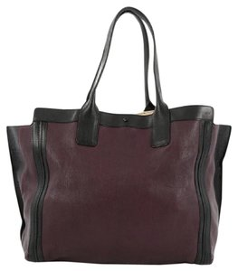Chloé Chloe Leather Tote in Purple