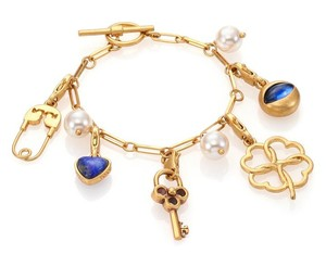 Tory Burch NEW Tory Burch Charm Bracelet Brass 7.5