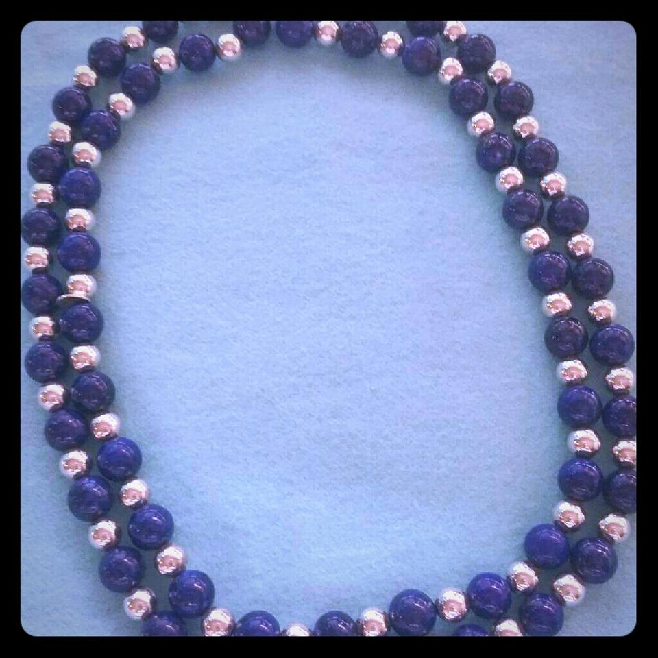 b4afcf1d6d758 Tiffany & Co. Blue and Silver Company Lapis Lazuli Beaded Necklace