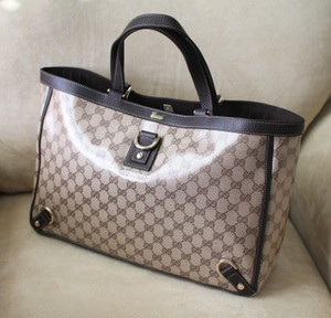 Gucci Crystal Tote in Brown