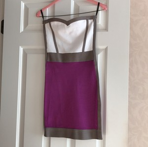 bebe short dress purple/gray/white on Tradesy