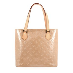 Louis Vuitton Tote Leather Beige Shoulder Bag