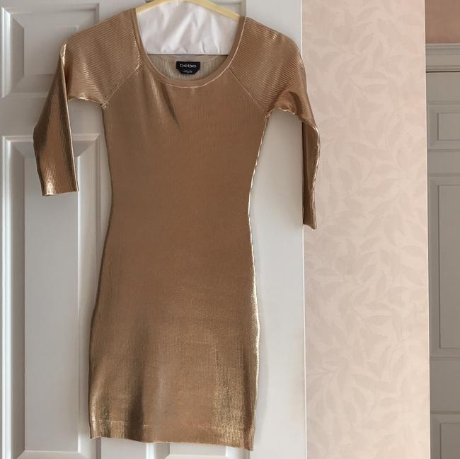 Item - Metallic Gold See Tag Mid-length Night Out Dress Size 4 (S)