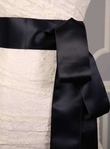 Midnight Blue Ribbon Sash