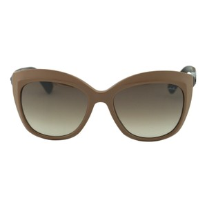 Lanvin New Lanvin SLN632 Women Brown Butterfly Wooden Details Sunglasses