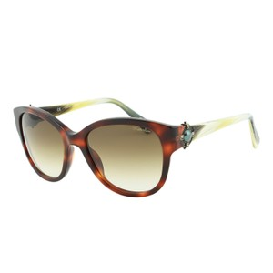 Lanvin New Lanvin SLN596S Tortoise Brown Cat-Eye Antique Pearl Sunglasses