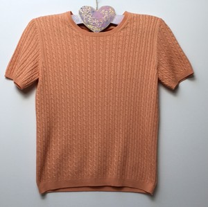 Brooks Brothers Silk Cashmere Short Sleeved Sweater