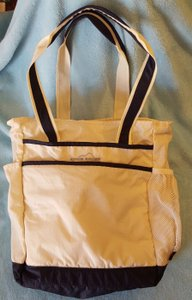 Eddie Bauer Nylon Tote in White Black trim