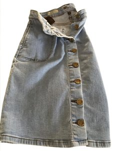KUT from the Kloth Front A-line Skirt Denim