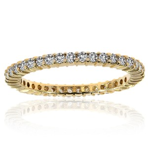 Avital & Co Jewelry Ladies Round Brilliant Diamond Eternity Band In 14k Yellow Gold (0.65)