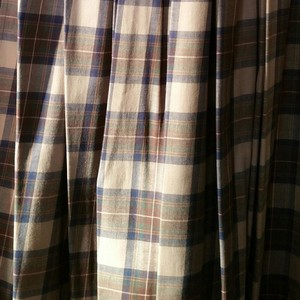 Laura Ashley Maxi Skirt Plaid with tan background and tones of other colors