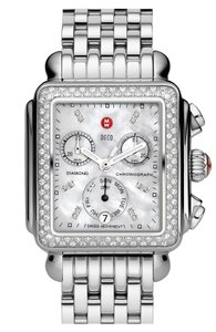 Michele Michele MWW06A000028 Deco Diamond Classic SS MOP Dial Watch