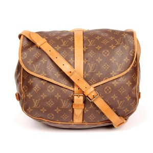 Louis Vuitton Saumur 35 Canvas Leather Cross Body Bag
