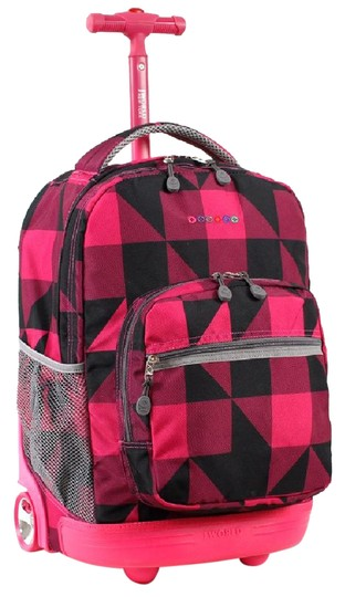 Preload https://img-static.tradesy.com/item/20750947/rolling-block-pink-polyester-backpack-0-1-540-540.jpg